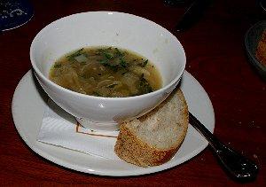 The six onion soup at Seattle's Palace Kitchen was wonderful.