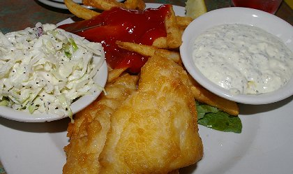 The Cod Fry from JJs Fish House in Poulsbo, Washington - image.