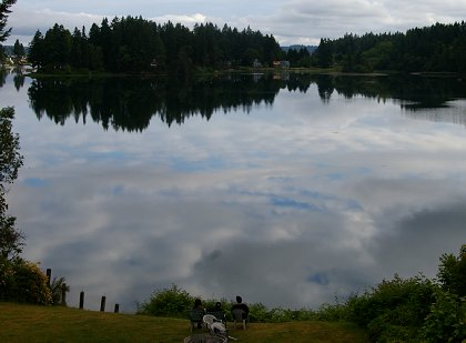 The view from the dining room at the Oyster Bay Inn in Bremerton, Washington - image.