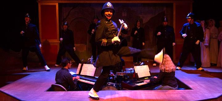 The policemen in The Pirates of Penzance at Lakewood Playhouse - PHOTO by TIM JOHNSTON - image.