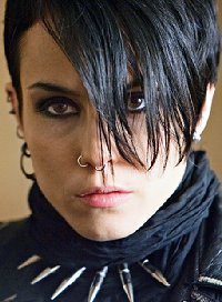 Noomi Rapace playing the part of Lisbeth Salander of the Dragon Tattoo trilogy which played at the Grand Cinema in Tacoma, Washington - Photo.