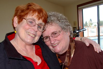 Sisters Peg Doman and Pat Nelson in Tacoma, Washington - Photo.