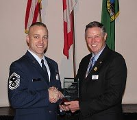 MSgt. Michael Lantz John H. Anderson Military Citizen of the Year 2010 - Tacoma, Washington - Photo.