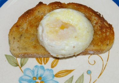 A perfectly poached egg.