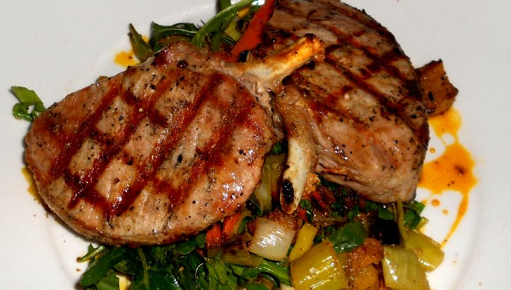 Pork Chops at Pacific Grill in downtown Tacoma - image.