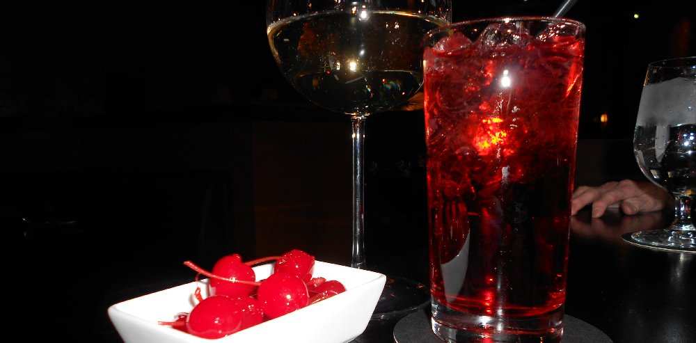 Shirley Temple and wine at Pacific Grill in downtown Tacoma  - image.