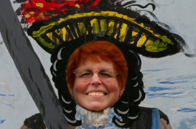 Peg as a pirate.