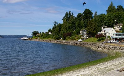 The Puget Sound shoreline in Port Orchard.