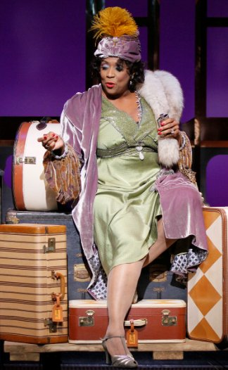 E. Faye Butler as Sister Juba in Pullman Porter Blues at Seattle Repertory Theatre. Photo by Chris Bennion.