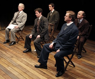 The Pitmen Painters at ACT Theatre in Seattle, Washington. Photo by Chris Bennion.