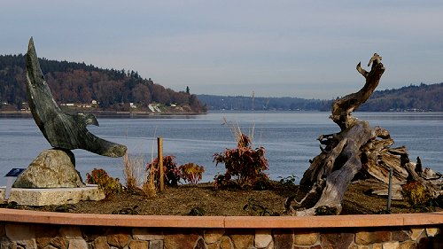 View of art and Quartermaster Harbor on Vashon Island - image