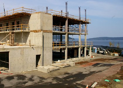 Movie theater construction at Point Ruston - Tacoma - image.