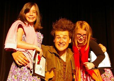 Eddie Carroll as Peter Pan in the musical Peter Pan at the Sumner Performing Arts Center in Sumner, Washington.