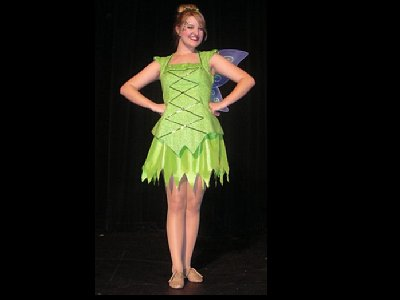 Kayli Christine as Tinker Bell in the musical Peter Pan at the Sumner Performing Arts Center in Sumner, Washington.