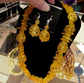 Amber  necklace at the Premier Consignment Store.