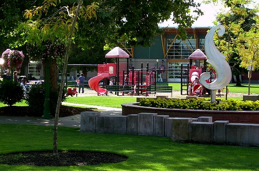 Pioneer Park in downtown  Puyallup.