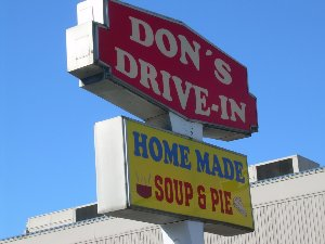 Don's homemade soup and pies near the fairgrounds in Puyallup.