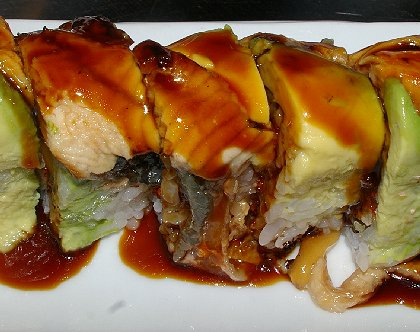 Dragon Roll Sushi - Shilla Japanese Korean Restaurant Review Seattle - image.