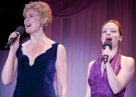 Laurie Clothier and Katherine Strohmaier performing at CenterStage Theatre in Federal Way, Washington.