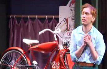 Jerick Hoffer as Red falling in love with Red Ranger bicycle.