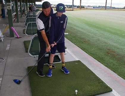 Golf lesson at Tacoma Firs Golf Center - image.