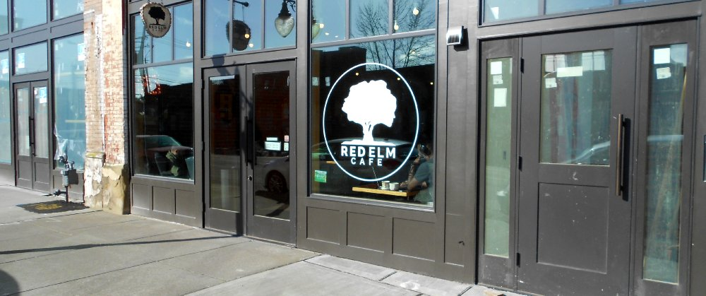 Outside the Red Elm Cafe in Tacoma - image.