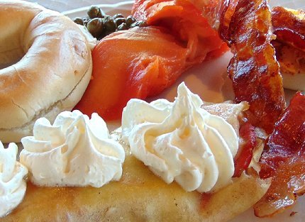 Peg's plate of lox and crepe - image.