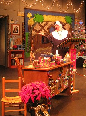 Aubrey Manning as Sister in Sister's Christmas Catechism by Maripat Donovan at ACT - A Contemporary Theatre. Photo: Ben Rapson.
