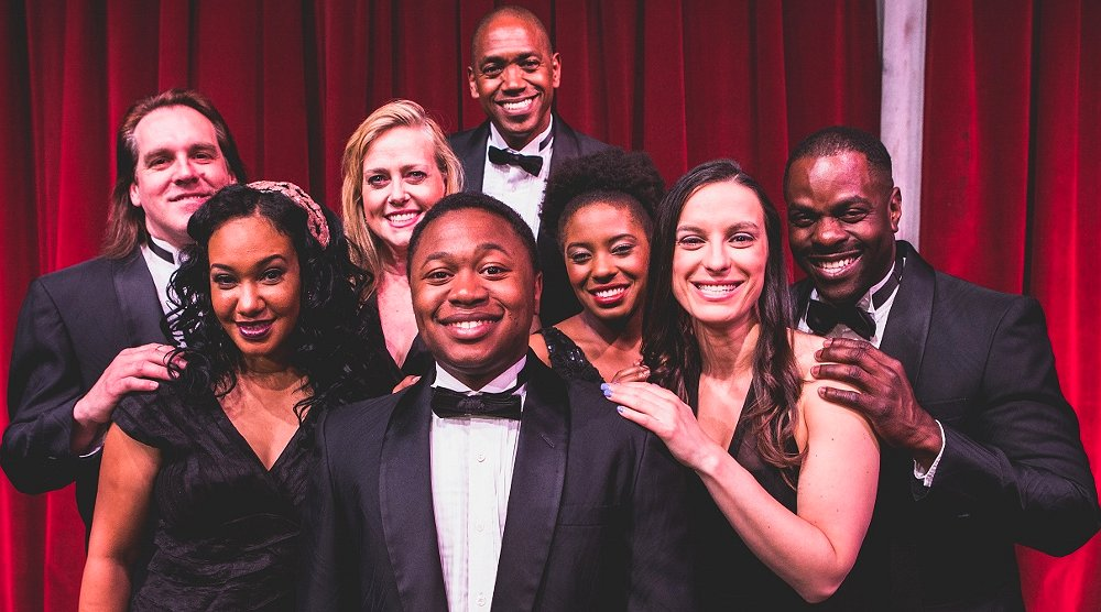 Bruce Haasl, Ashanti Proctor, Nancy Hebert, Loucas Curry, Eric Clausell, Ashley Jackson, Melanie Gladstone, Jermaine Lindsday - Photo by Dennis K Photography - Smokey Joe's Café at Tacoma Little Theatre - image.