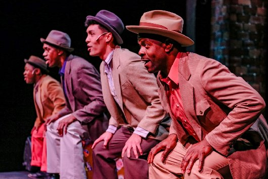 Loucas Curry, Eric Clausell, Kawika Huston, Jermaine Lindsay - Photo by Dennis K Photography - Smokey Joe's Café at Tacoma Little Theatre - image.