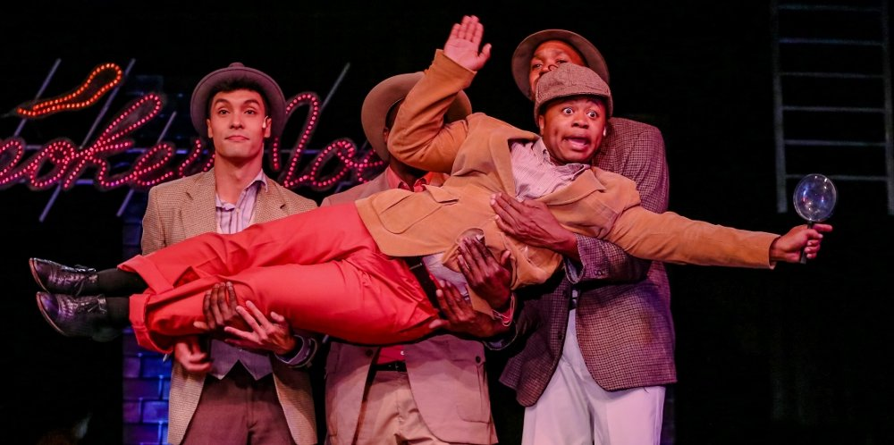 Kawika Huston, Jermaine Lindsay, Loucas Curry, Eric Clausell - Photo by Dennis K Photography - Smokey Joe's Café at Tacoma Little Theatre - image.