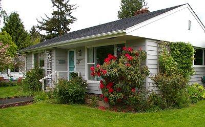 Our cute little cottage in Sumner, Washington.