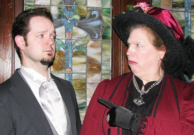 Jay Henson and Sandy Wagner from The Importance of Being Earnest in Sumner, Washington.