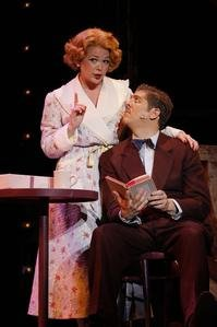 Miss Adelaid and Nathan Detroit in Guys and Dolls at the 5th Avenue in Seattle.