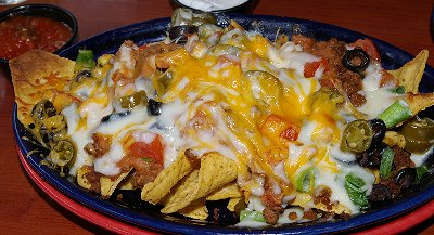 Excellent nachos from Farrelli's in Sumner, Washington.