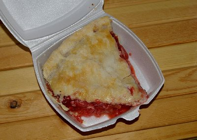 Excellent Rhubarb pie from Berryland Cafe in Sumner, Washington.