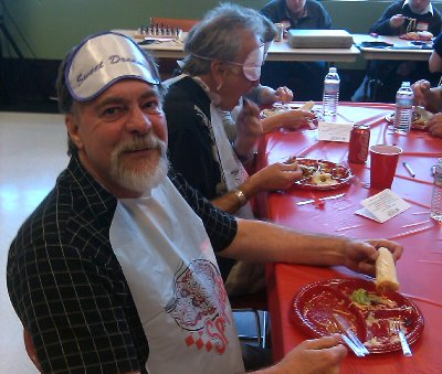Terry Belieu, a member of the Clean Plate Spaghetti Club.