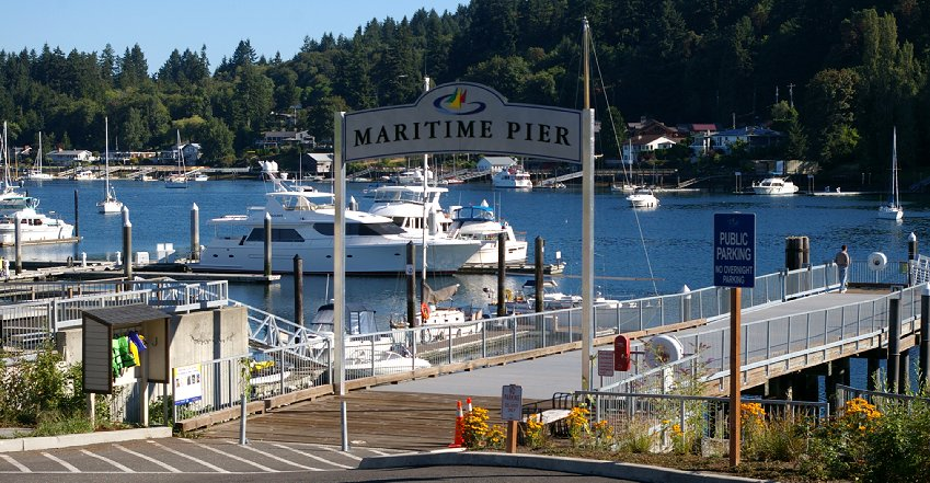 Maritime Pier in Gig Harbor, Washington.