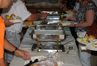 Great food at the Soroptomist Golf Tournament Oakbrook 2011.