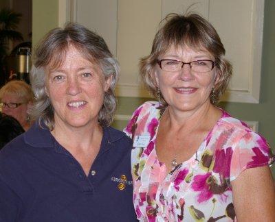 Soroptomist member Jan Runbeck and her friend Sue Lord - Soroptomist Golf Tournament Oakbrook 2011