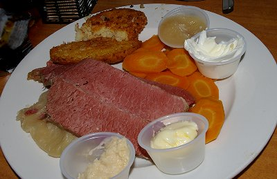 Corned beef and cabbage.