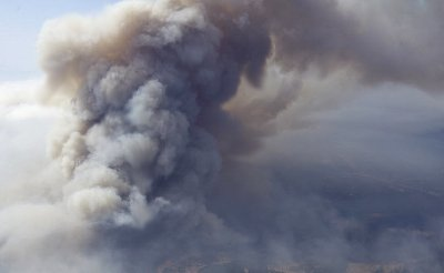 A forest fire in Eastern Washington.