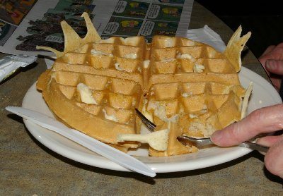 Homemade buffet waffles.