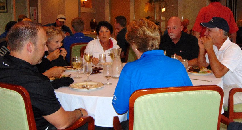 Dinner at the Tacoma Executives Association Golf Tournament at the Oakbrook Golf Course in Lakewood, Washington.