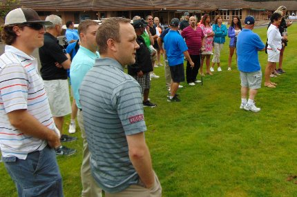 Participants in the Tacoma Executives Association Golf Tournament in Tacoma, Washington - image.