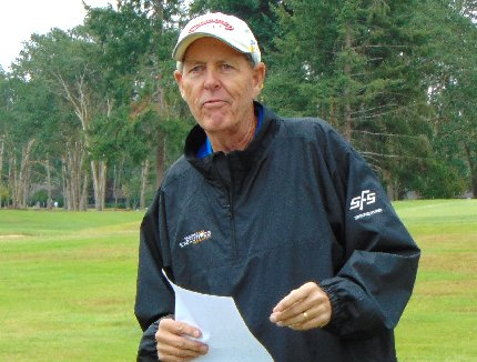 Chairman Don Gustafson of the Tacoma Executives Association Golf Tournament of Tacoma, Washington - image.