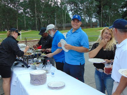 The food line at the Tacoma Executives Association Golf Tournament in Lakewood, Washington - image.