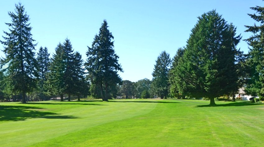 Fairway at the Oakbrook Golf Course in Lakewood, Washington.