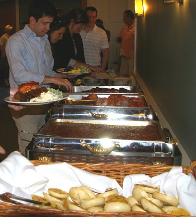 Dinner being served at McCormick Woods.