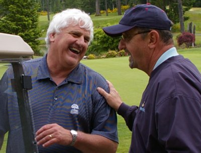 Wayne Knoll and Donn Irwin laughing.